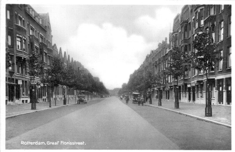 Vanaf Heemraadssingel richting Beukelsdijk, ± 1930