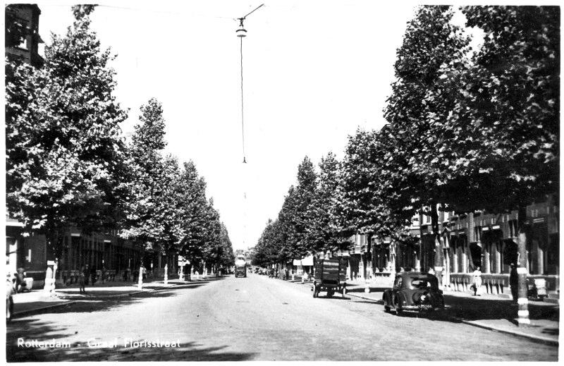 Vanaf Heemraadssingel richting Beukelsdijk, ± 1950
