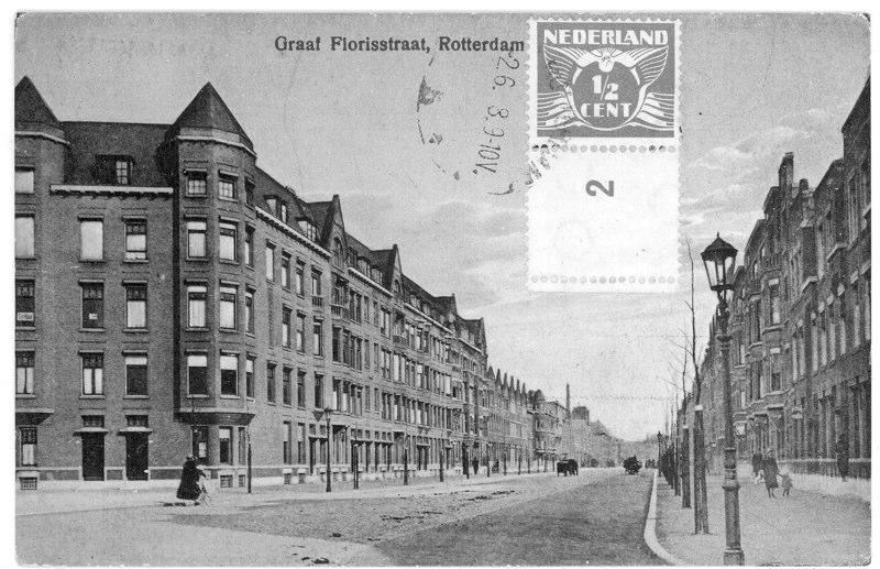 Vanaf Heemraadssingel richting Beukelsdijk, ± 1928