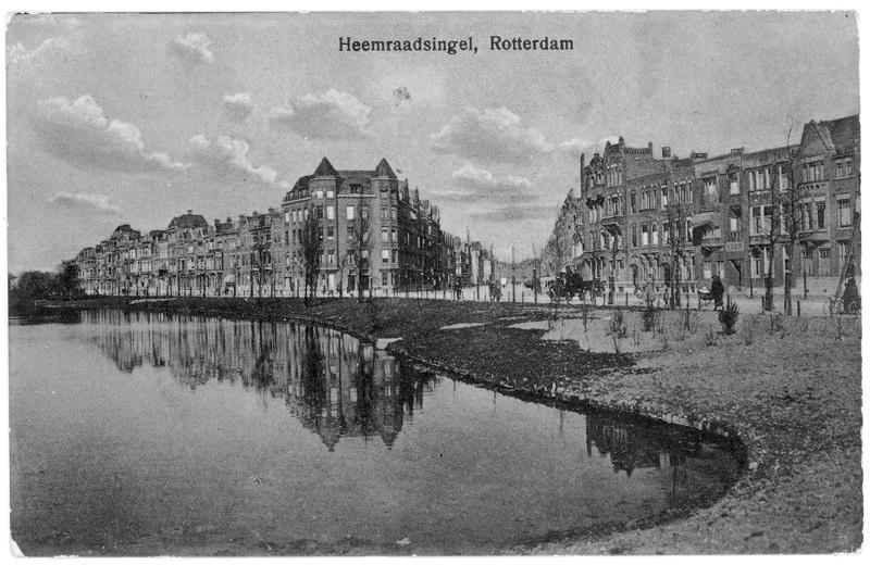 Vanaf Heemraadssingel richting Beukelsdijk, ± 1925