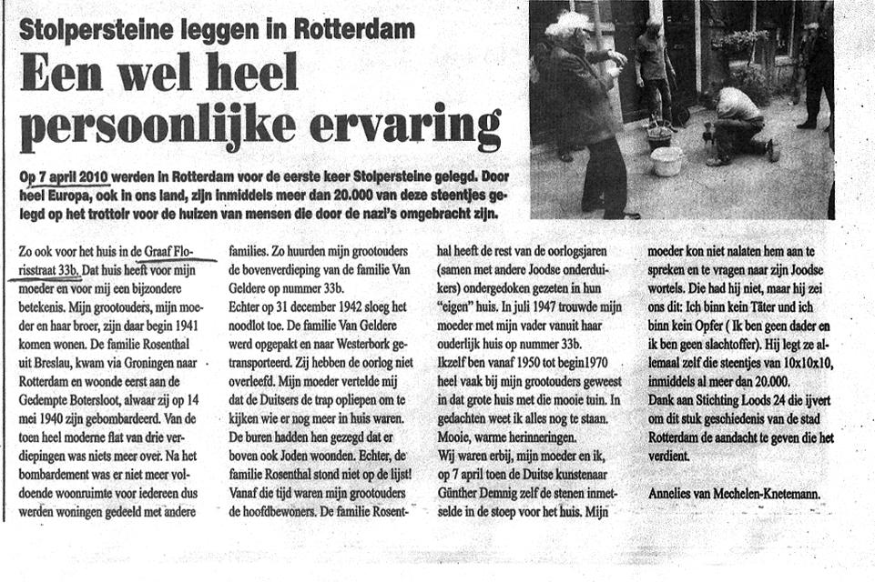 Stolpersteine_leggen_in_Rotterdam_1