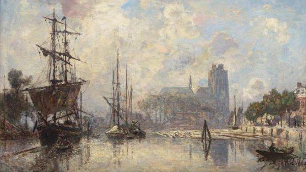Jeroen's Kersttip: 'Le Port de Dordrecht' 1869